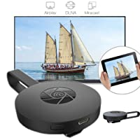 Wireless Wi-Fi Display Dongle,1080P Digital Hdmi Media Video Streaming Wireless Display Adapter for iOS/Android Smartphone,Chromecast,Support Airplay DLNA Miracast Dongle