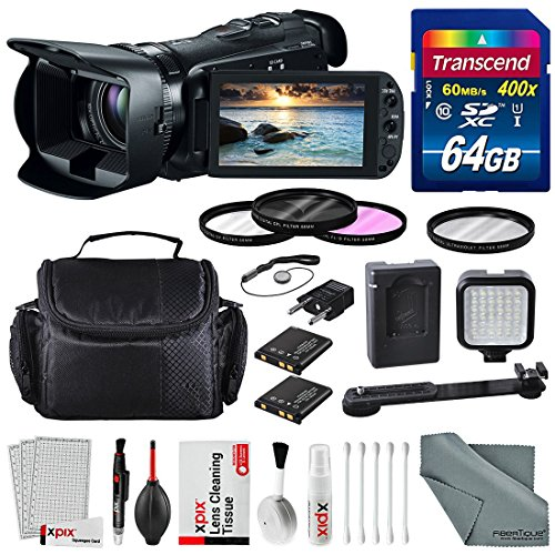 Canon 32GB VIXIA HF G20 Full HD Camcorder with Deluxe Accessory Bundle and Xpix Cleaning Kit