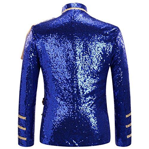 De Blazer Homme Costume Cérémonie Habit Allthemen Veste Paillettes Élégant 4Pqt5WU