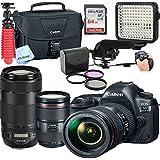 Canon 5D Mark IV DSLR Camera with EF 24-105mm + EF-70-300mm USM Lenses,Led Video Light,Shotgun MIC, 64GB Sandisk Class 10 Memory-WiFi Enabled