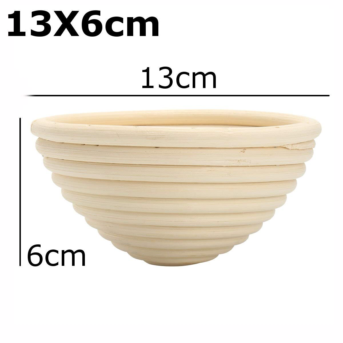 Best Quality - Storage Baskets - Bread Basket Banneton Brotform Rattan Proofing Basket Liner Round Oval Fruit Tray Dough Food Storage Container Organizer Basket - by GTIN - 1 PCs by HIBISCUS. (Image #4)