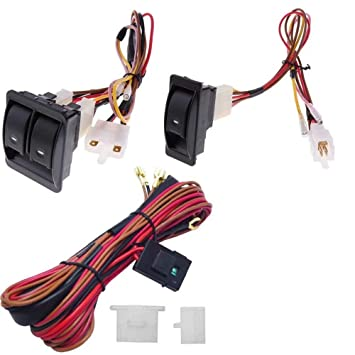 6pcs 12v universal car power window switch regulator kits with wiring harness for 2 doors power window switch wiring schematic pontiac gto 1970 power window wiring