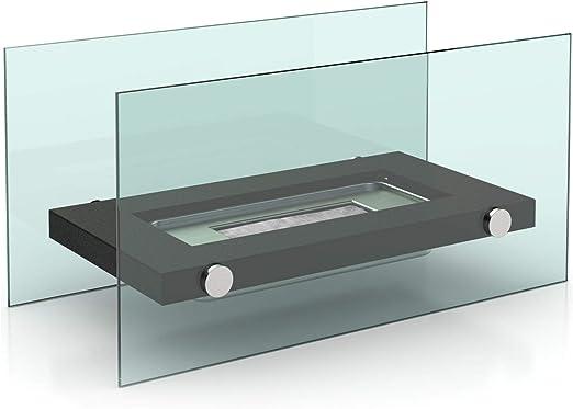 iDiffusion - Chimenea de Mesa Rectangular de bioetanol, 34 x 17 cm ...