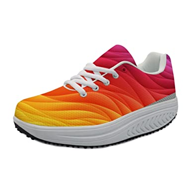 9907863b588 FOR U DESIGNS Autumn Women Shoes Causal Sport Walking Flats Height  Increasing Swing Wedges Anti Skid