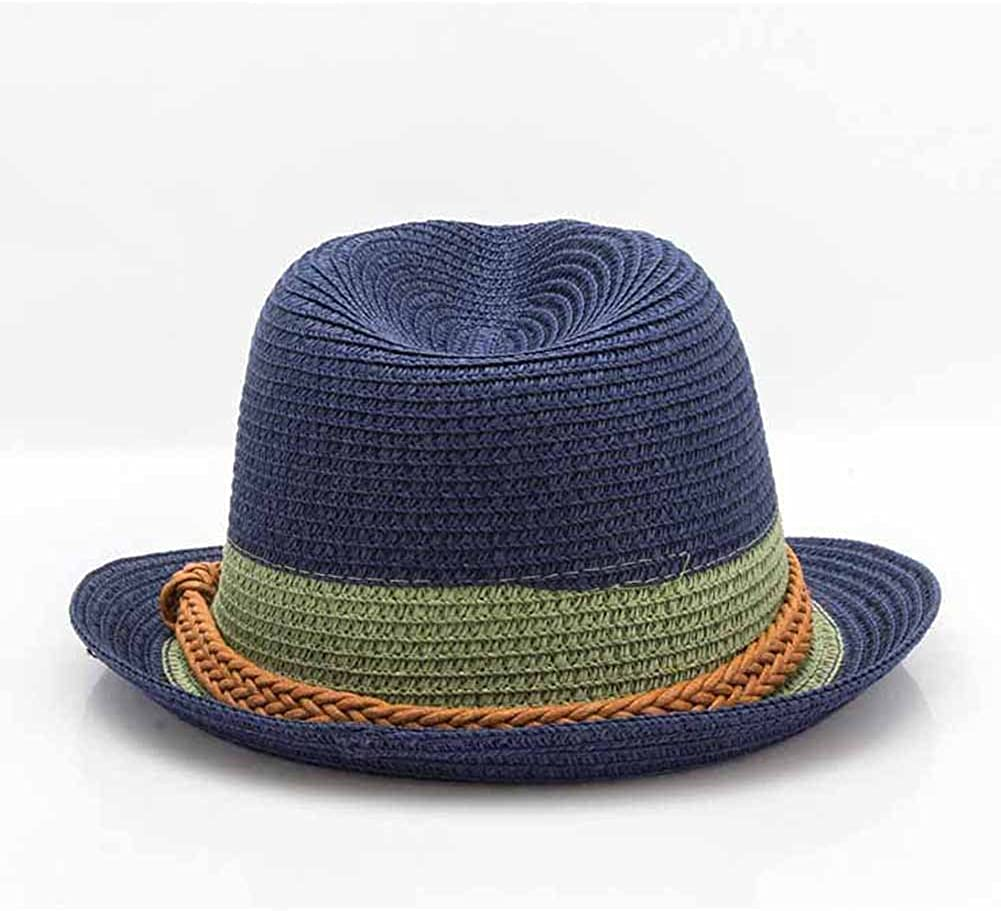 Q/&Y Yq Unisex Summer Straw Hats Fedora Panama Caps