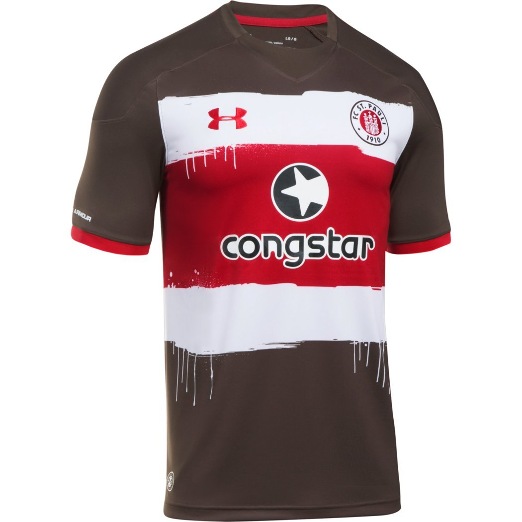 new style 4864a 081f8 FC St. Pauli Adult Replica Home Shirt 2017-18