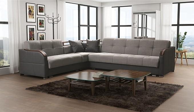 Sofá extra grande, de piel sintética y tela, de Futuro, sofá ...