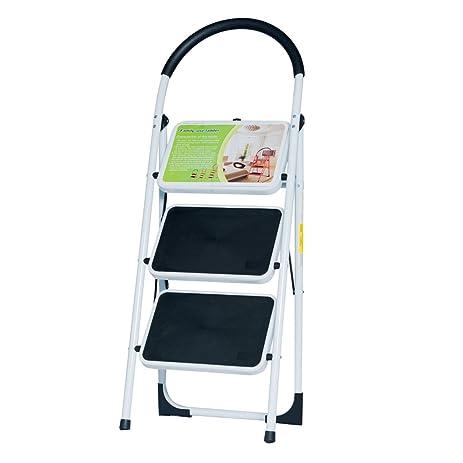 good life en131 folding 3 step ladder home depot steel step ladders lightweight 300 lb capacity