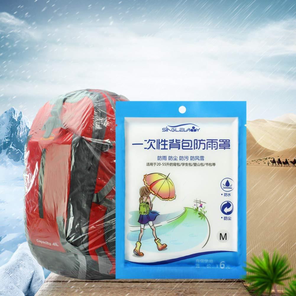 Autotipps para Camping Transparente 20-30 L Funda Impermeable para Mochila de 20 a 40 litros protecci/ón contra la Lluvia y el Polvo