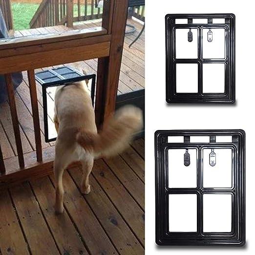 Cerradura de puerta para gato con cerradura para puerta de entrada para mascotas, para perros y gatos, con bonitas redes de seguridad