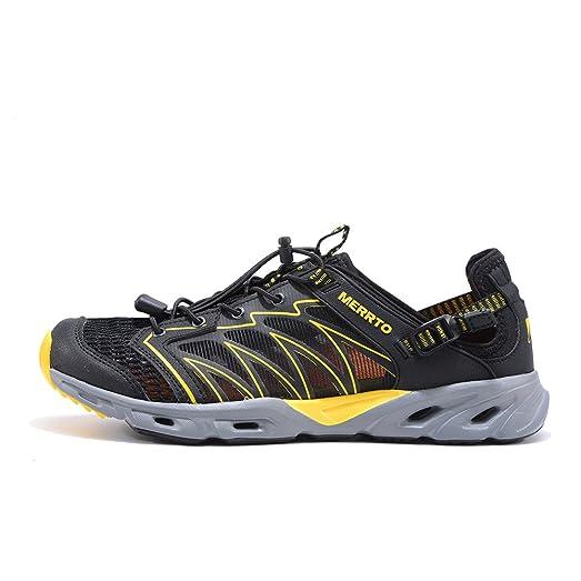 Men's Outdoor Trekking Shoes (8 Black Yellow)