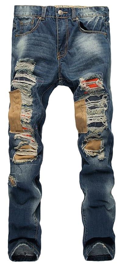 Herren Jeans Hose Clubwear Jungs Jeanshosen Design Style Hosen W30 W31 W32 Neu