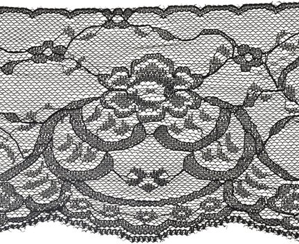 passamanerie decorativo floreale Galloon piatto pizzo, 10,2cm x 16,5m
