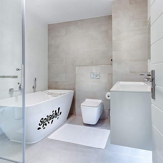 25 x 18 Vinyl Wall Art Decal Trendy Water Apartment Indoor Kids Room Bath Time Decals So Fresh and So Clean Fun Modern Letters Home Bathroom Bathtub Shower Decor
