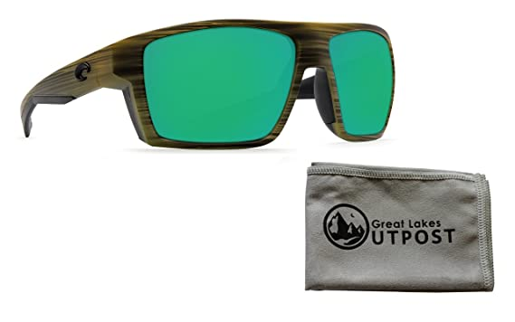 b94671895be Image Unavailable. Image not available for. Color  Costa Bloke Green Mirror  580P Matte Verde Teak + Black Frame Sunglasses ...