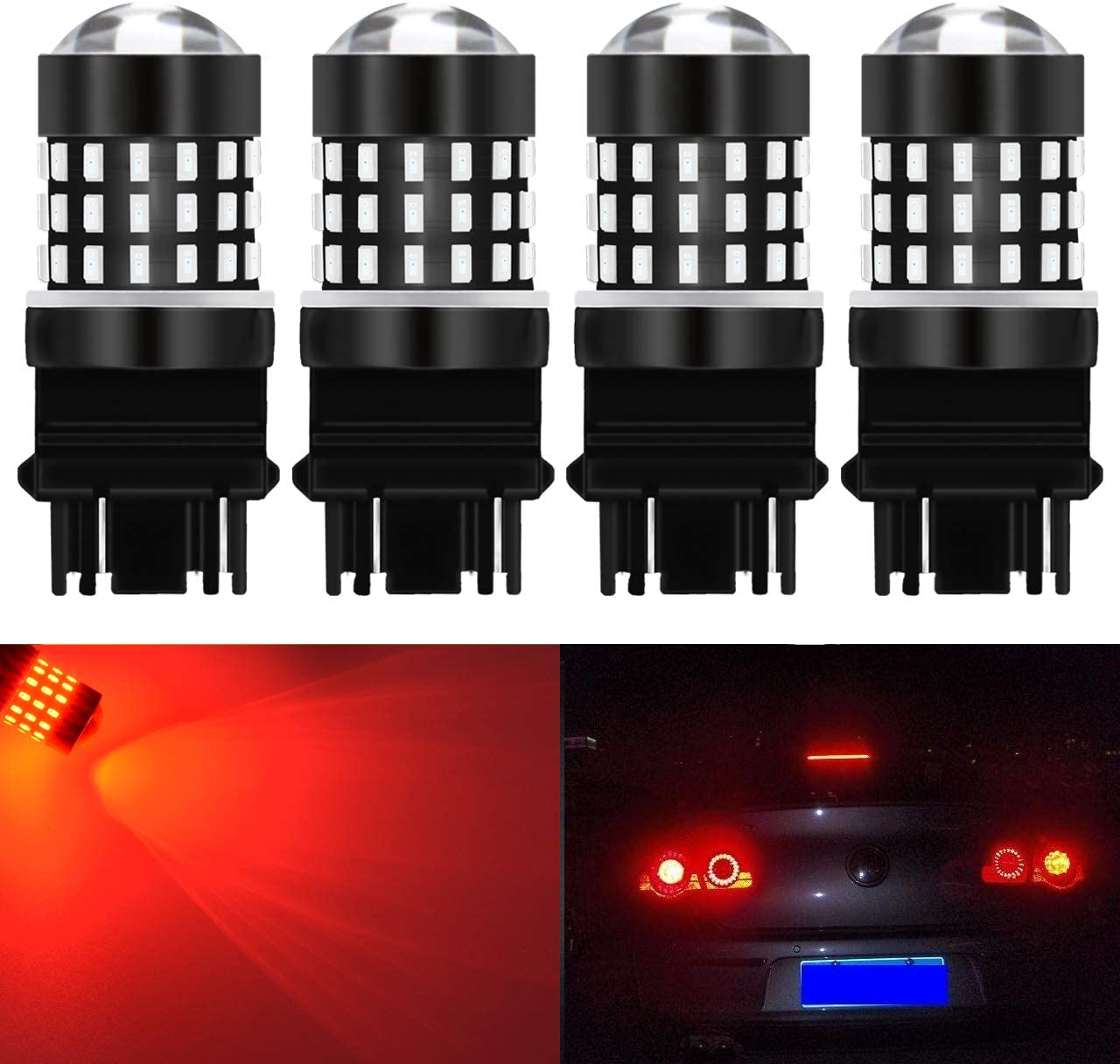 SiriusLED 2pc 7506 1156 6500K White LED Back up Reverse Light Bulb 2835 SMD Chip