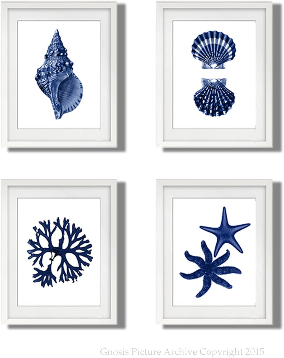 Navy Blue Beach Wall Art