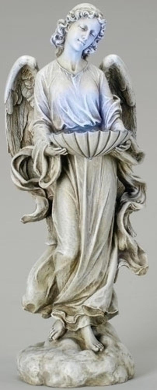 24.5'' Joseph's Studio Solar Powered LED Lighted Outdoor Angel Bird Bath Garden Statue by Roman