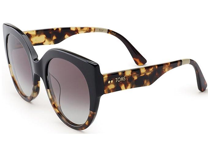 15ce123e974e4 Image Unavailable. Image not available for. Colour  Toms 10005467 Women s  Luisa Black Tortoise Frame Gradient Vioelt Lens Cat Eye Sunglasses