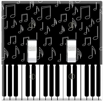 Dual Toggle Wall Switch Cover Plate Decor Wallplate I Love Piano Switch Plates Amazon Canada