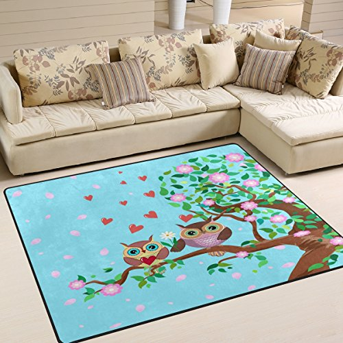 ALAZA-Cute-Owl-in-Love-Valentines-Day-Area-Rug-Rugs-Mat-for-Living-Room-Bedroom