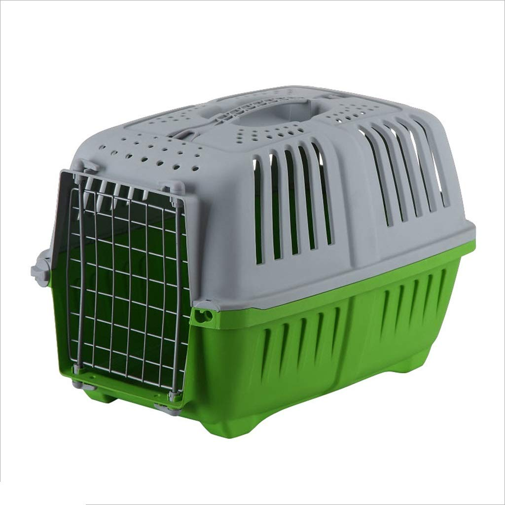 Green Dongyd Pet carrier, Large Portable Dog Cat Consignment Cage Box Rabbit Cage, 18.5x11.8x13.8 Inches,3 colors Optional (color   Green)