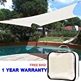 Quictent 16′ x 20′ Rectangle Sun Sail Shade Canopy Top Outdoor Cover Patio Garden w/Free Carry Bag- Ivory (Beige) Review