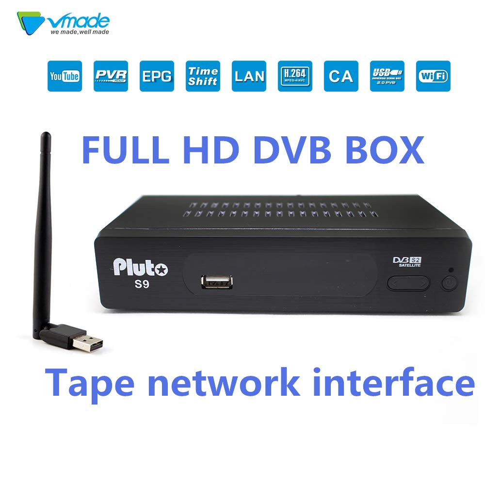 Vmade SAT Digitaler satellite-receiver (WiFI dongle,HDTV,EMAC,DVB-S2, HDMI,2USB,Full HD 1080p,YouTube,Cccam,Newcam ect.)