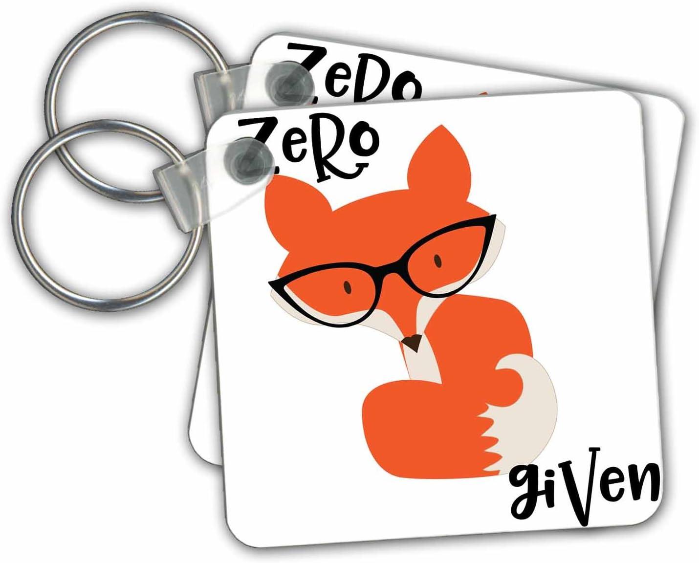 2.25 x 2.25 Set of 2 kc/_270955/_1 3dRose Key Chains Zero Fox Given