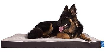 Silentnight de espuma de memoria Ultra grado perro cama – piel sintética marrón