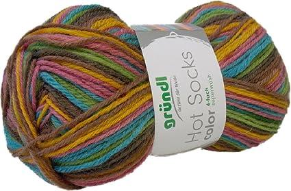 Gründl Hot Socks Color Color 400 lana para calcetines Calcentines