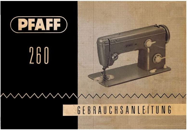 Unbekannt Download PDF de File Pfaff 260 Máquina de Coser ...