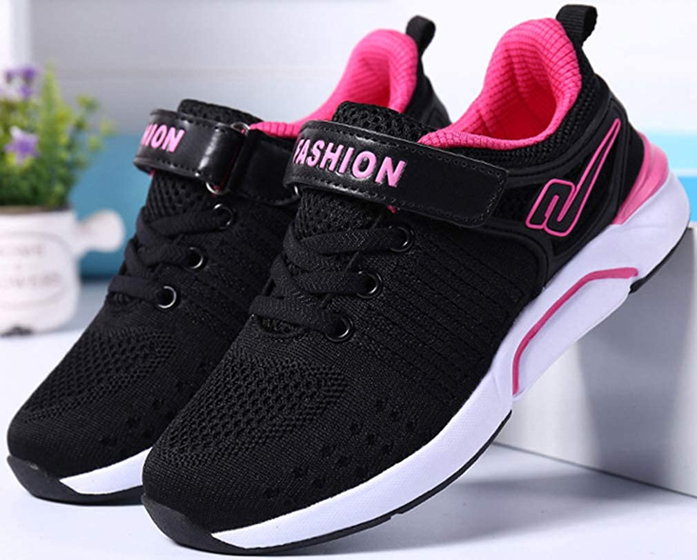 VECJUNIA Girls Lightweight Breathable Athletic Sneakers Sports Shoes