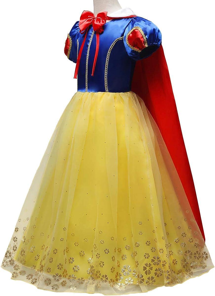 IBTOM CASTLE Blancanieves Disfraz con Capa Carnaval Traje de ...