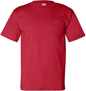 product image for Bayside USA-Made Short Sleeve T-Shirt with a Pocket. 7100 X-Large Red