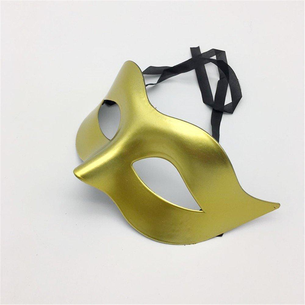 Mascara Facial Careta Protector de Cara dominó Frente Falso Glamour Hombres máscaras Halloween Disfraces Bailes máscaras Damas Color sólido Minimalista ...