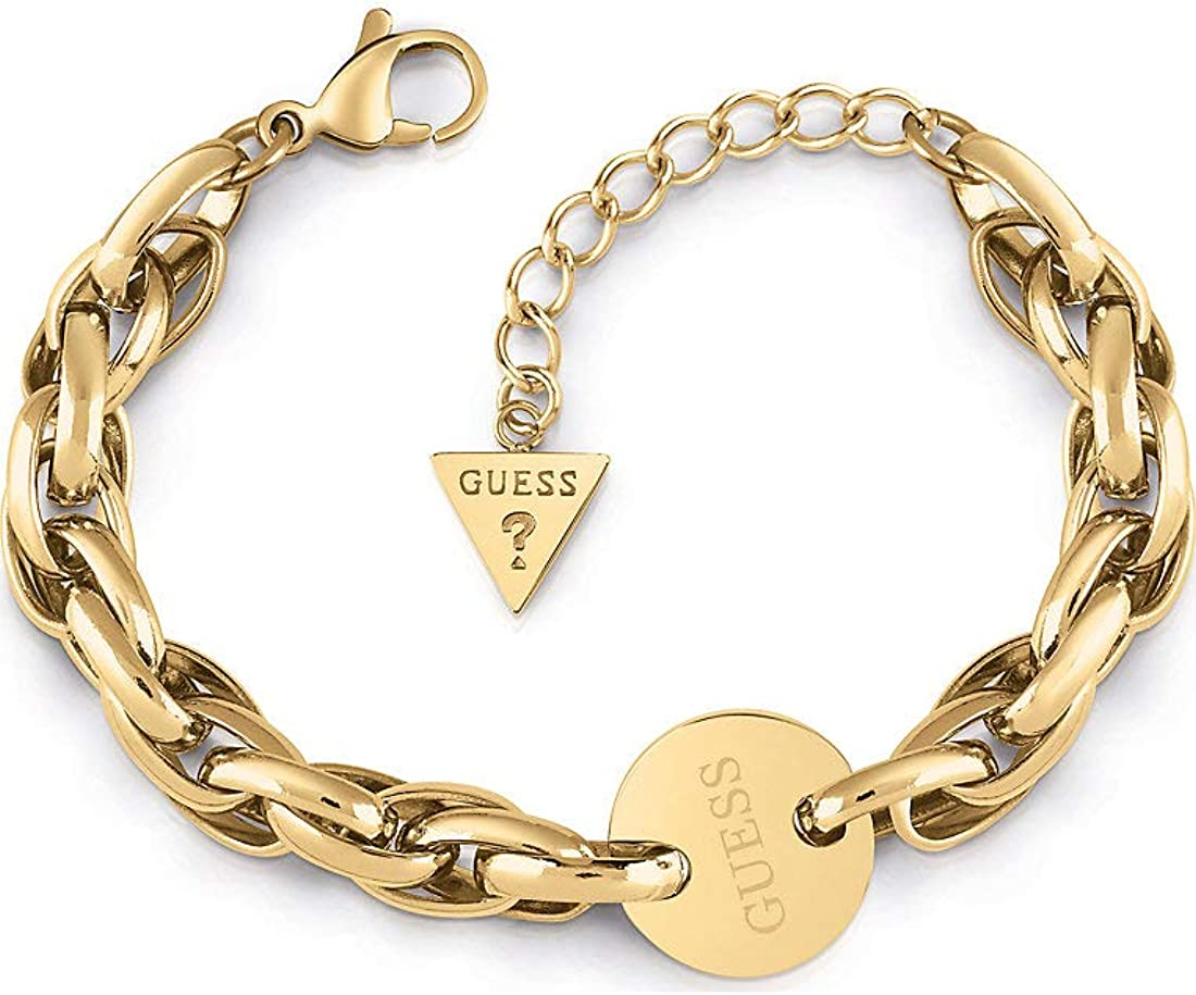Guess Damen Armband OVAL Chain Coin Edelstahl 32011714