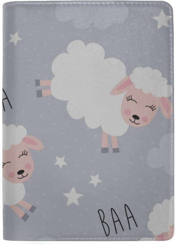 Hard Case Passport Holder Cute Sheeps Jumping Over A Fence Stylish Pu Leather Travel Accessories Passport Holder Cover Case For Women Men