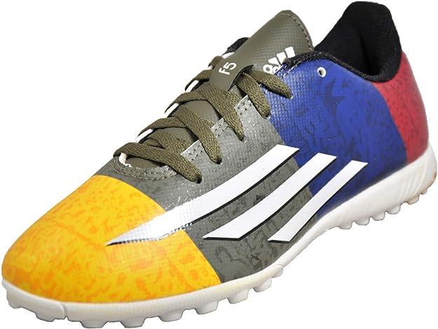 seguro réplica director  Adidas Messi F5 TF Niños Zapatillas Deportivas Dorado/Blanco/Verde/Azul  30.5 EU: Amazon.es: Zapatos y complementos