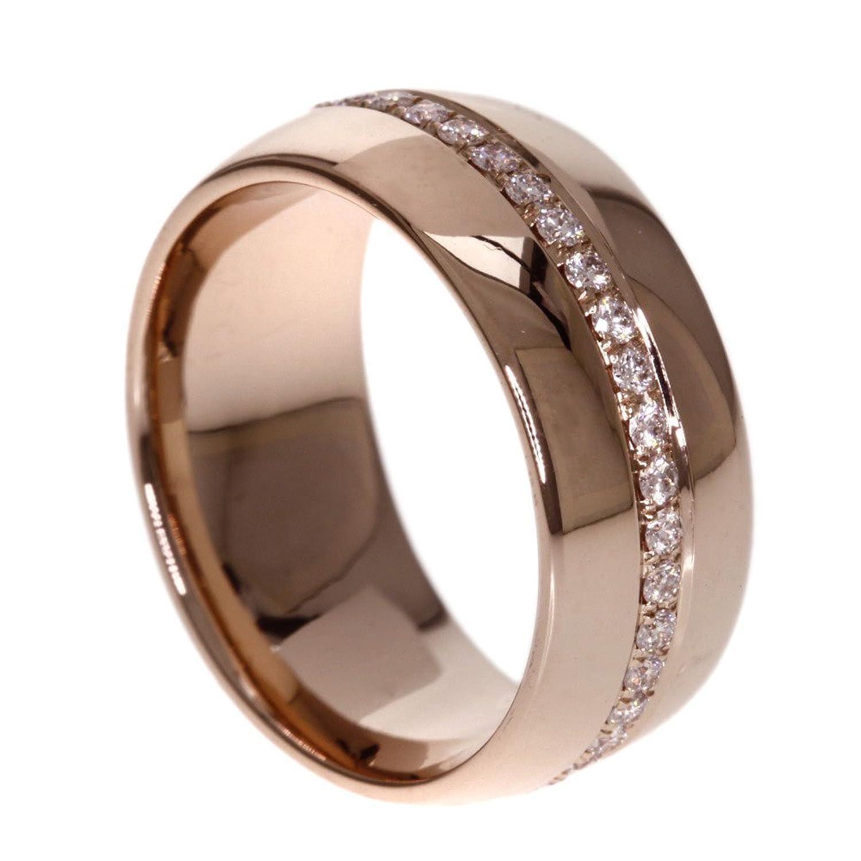 9g ダイヤモンド リング指輪 K18ピンクゴールド レディース (中古) B073CWK2MS