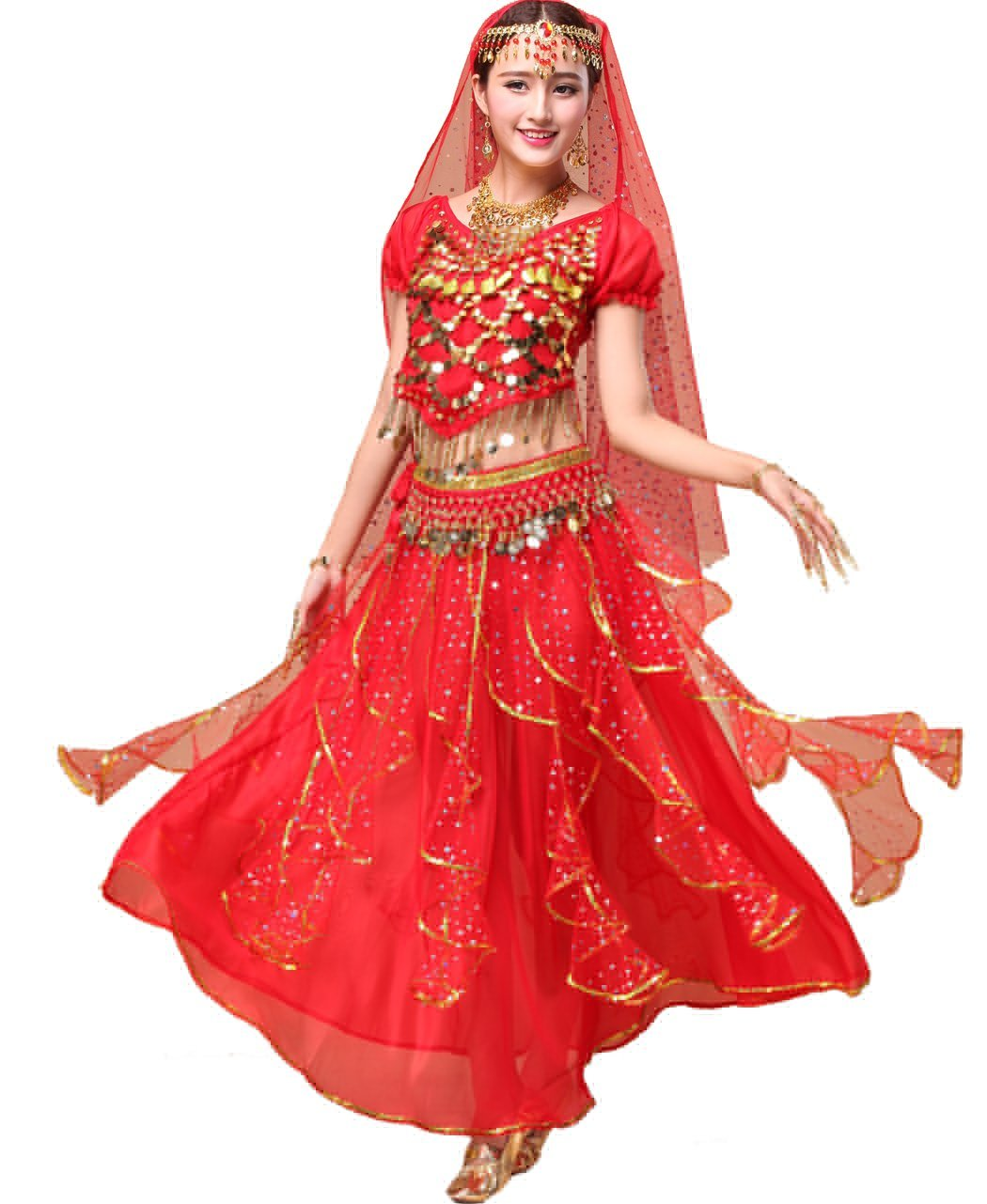 fe156714d5ef Astage Women Belly Dance Costumes India Danceweae Performance Gifts All  Accessories Sc 1 St Amazon.com