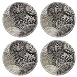MSD Round Coasters IMAGE 29875993 Closeup view of medieval European silver coins Suitable for an abstract background