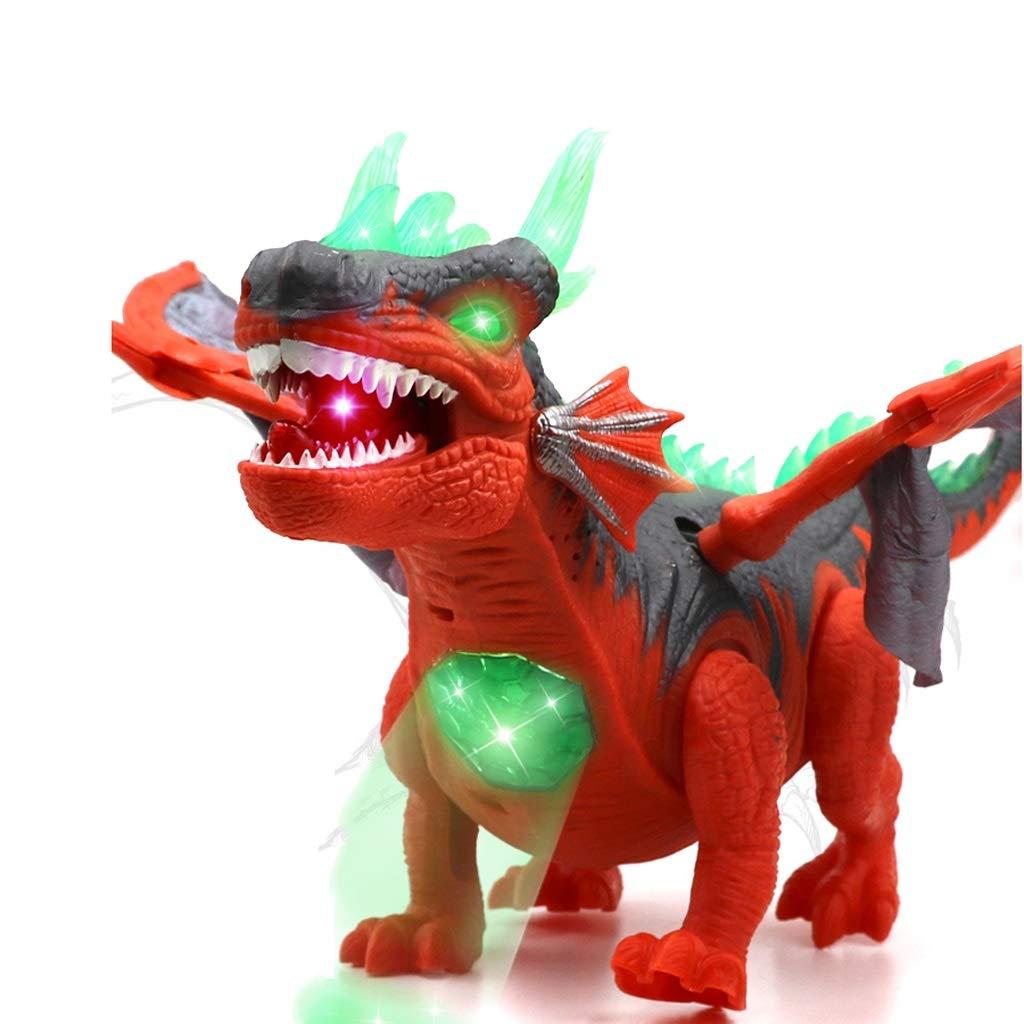 Kaiyu Juguete de Dinosaurio para niños Juego de simulación Animal Plástico Eléctrico Flying Pterosaur Modelo (Color : Brown)