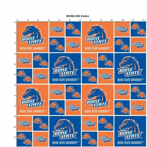 Cotton College Boise State Broncos University Team Sports Cotton Fabric Print By the - Boise State Fabric