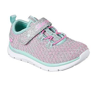 b276ce3bf8ca8b Skechers Kinder Sneaker Sparkle Sweetie Mädchen Turnschuhe Klettverschluss  Pink Rosa Türkis