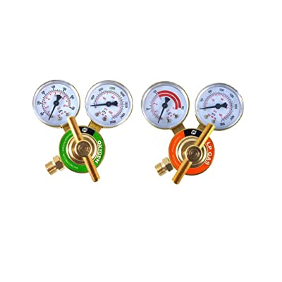 SÜA - Oxygen and Propane/Propylene Regulators Welding Gas Gauges -Pair - Rear Entry - LDB series