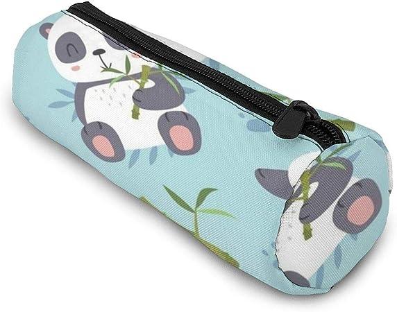 RTBB - Estuche cilíndrico para lápices y bolígrafos con cremallera, diseño de panda kawaii: Amazon.es: Hogar