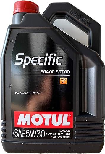 Motul 5 Liter Specific Sae 5w30 504 00 507 00 Acea C3 Auto