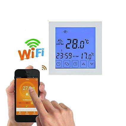 Elenxs Controlador digital de temperatura Wifi Agua Suelo Radiante termostato programable