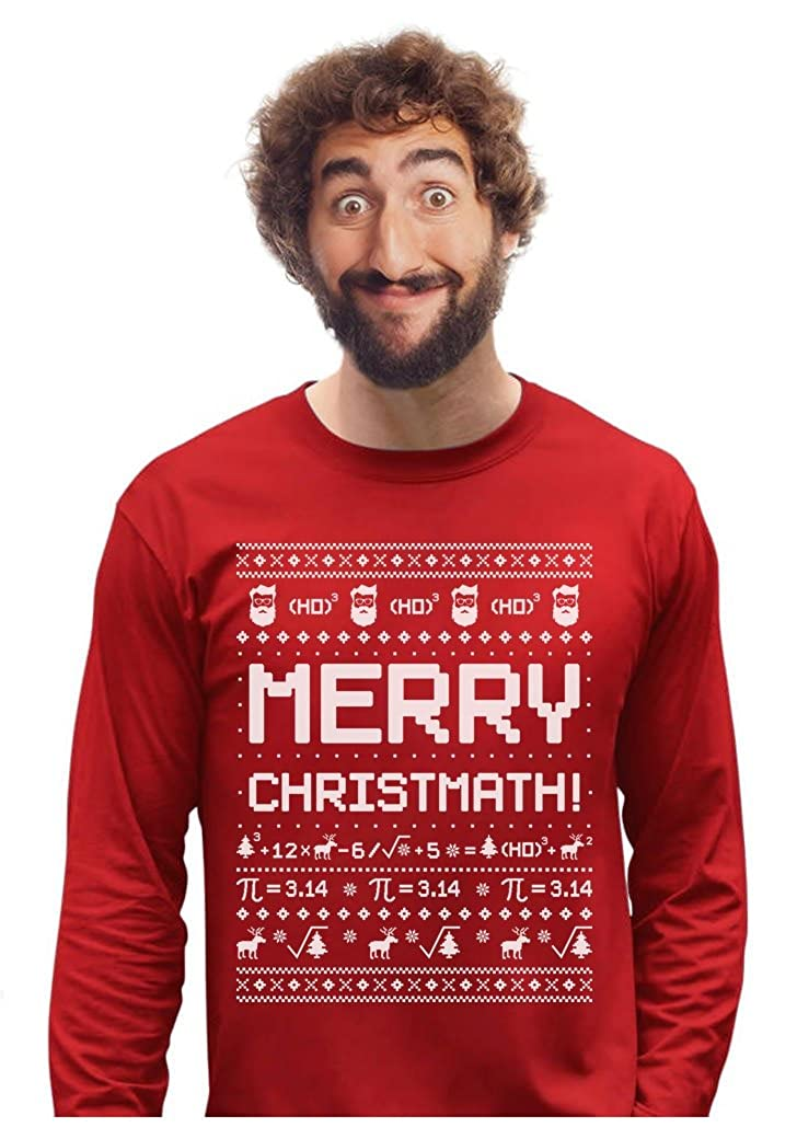 Merry Christmath Funny Math Ugly Christmas Sweater Long Sleeve T-Shirt GMPlM03gC